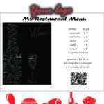 Smart menu e menu su bacheca appesa