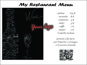 Smart menu e menu su tovagliette coperti usa e getta