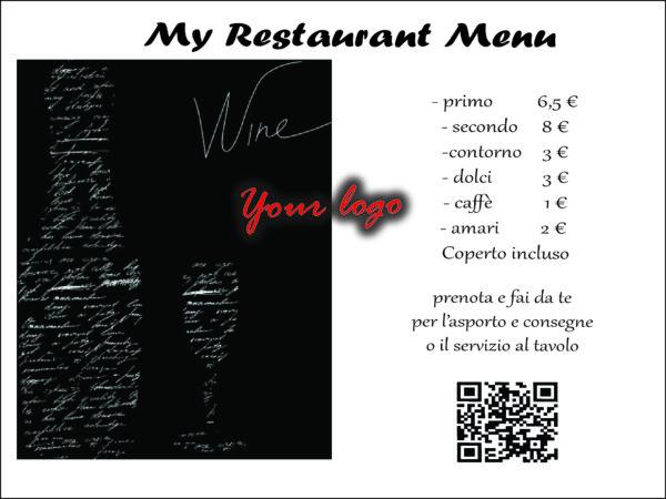 Smart menu e menu su tovagliette coperti usa e getta